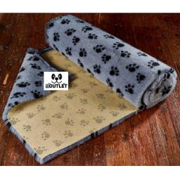 Professional Quality Vetbed, Grey with Black Paw print